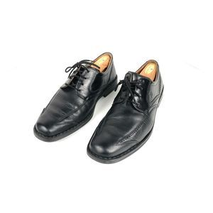 Mens Josef Seibel Black Leather Derbys 9 US